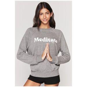 NWT Spiritual Gangster grey Meditate sweatshirt